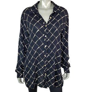 Avenue Womens Button Up Top Plus Size 14W 16W